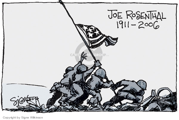 Cartoonist Signe Wilkinson  Signe Wilkinson's Editorial Cartoons 2006-08-22 World War II