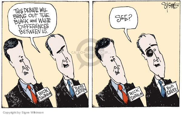 Signe Wilkinson  Signe Wilkinson's Editorial Cartoons 2006-09-05 republican debate
