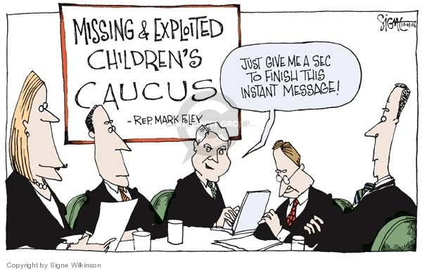 Signe Wilkinson  Signe Wilkinson's Editorial Cartoons 2006-10-03 congressional scandal