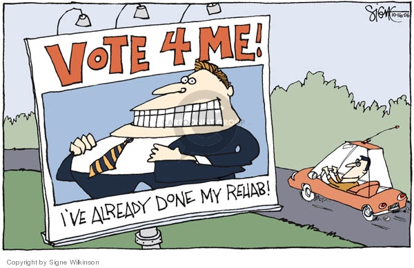 Cartoonist Signe Wilkinson  Signe Wilkinson's Editorial Cartoons 2006-10-16 candidate