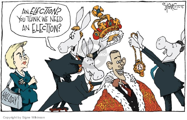 Cartoonist Signe Wilkinson  Signe Wilkinson's Editorial Cartoons 2006-10-26 presidential candidate