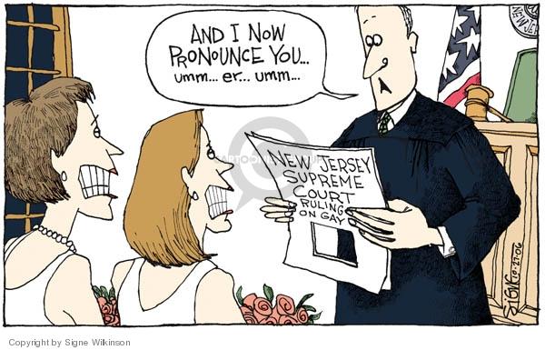 Signe Wilkinson  Signe Wilkinson's Editorial Cartoons 2006-10-27 equal rights
