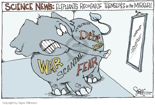 Cartoonist Signe Wilkinson  Signe Wilkinson's Editorial Cartoons 2006-11-02 political scandal