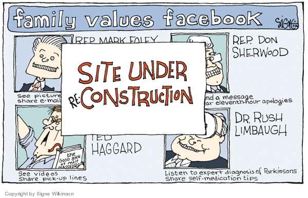 Cartoonist Signe Wilkinson  Signe Wilkinson's Editorial Cartoons 2006-11-07 technology usage