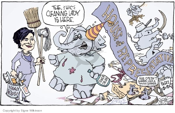 Signe Wilkinson  Signe Wilkinson's Editorial Cartoons 2006-11-10 Nancy Pelosi