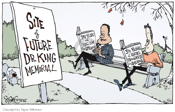 Signe Wilkinson  Signe Wilkinson's Editorial Cartoons 2006-11-15 racism