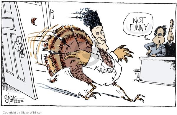 Signe Wilkinson  Signe Wilkinson's Editorial Cartoons 2006-11-22 racism