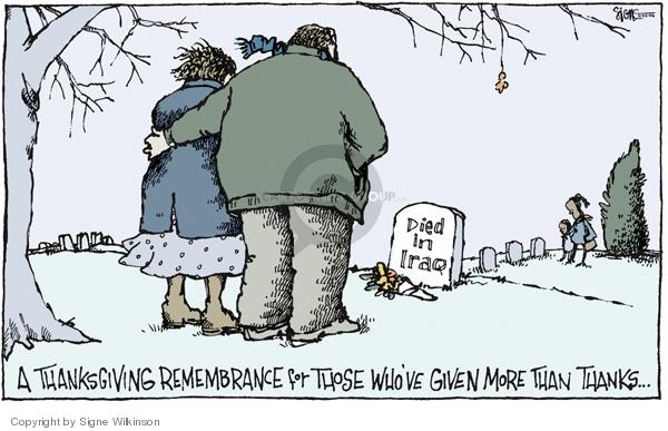 Signe Wilkinson  Signe Wilkinson's Editorial Cartoons 2006-11-22 Thanksgiving