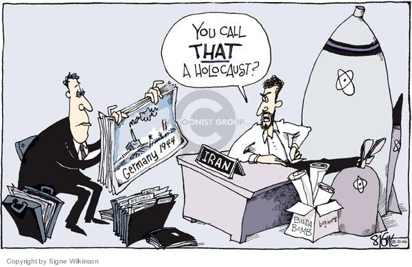 Signe Wilkinson  Signe Wilkinson's Editorial Cartoons 2006-12-21 Mahmoud Ahmadinejad