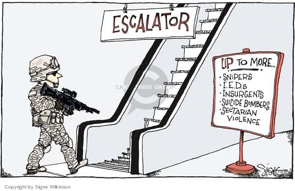 Cartoonist Signe Wilkinson  Signe Wilkinson's Editorial Cartoons 2007-01-12 Iraq