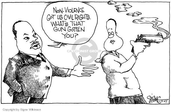 Cartoonist Signe Wilkinson  Signe Wilkinson's Editorial Cartoons 2007-01-15 gun rights