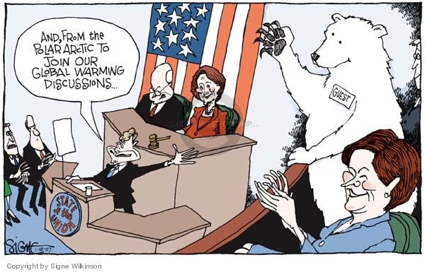 Cartoonist Signe Wilkinson  Signe Wilkinson's Editorial Cartoons 2007-01-18 first lady