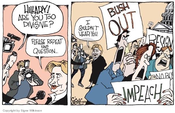 Cartoonist Signe Wilkinson  Signe Wilkinson's Editorial Cartoons 2007-01-24 presidential candidate