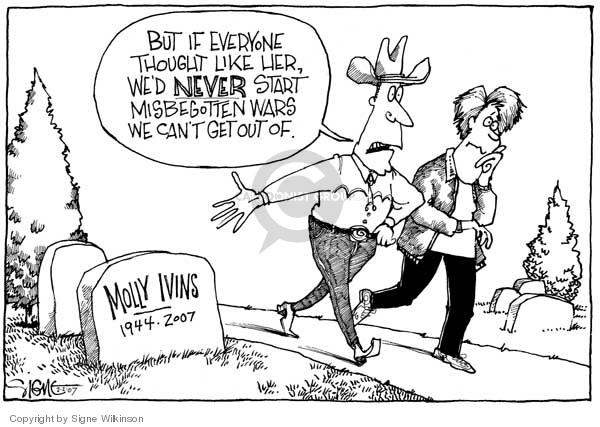 Cartoonist Signe Wilkinson  Signe Wilkinson's Editorial Cartoons 2007-02-01 commentary