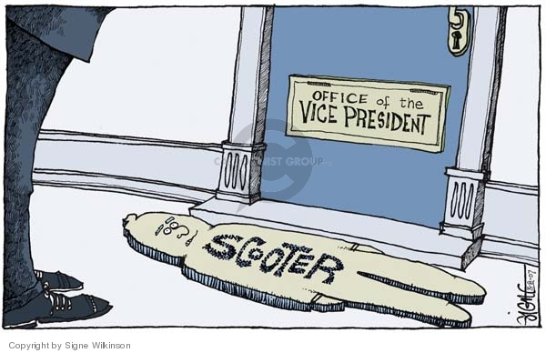 Signe Wilkinson  Signe Wilkinson's Editorial Cartoons 2007-03-08 Bush Cheney