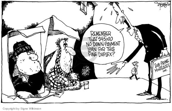 Signe Wilkinson  Signe Wilkinson's Editorial Cartoons 2007-03-23 housing