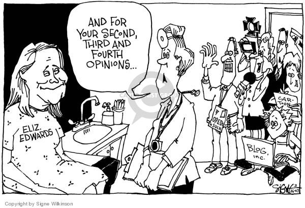 Signe Wilkinson  Signe Wilkinson's Editorial Cartoons 2007-03-26 cancer