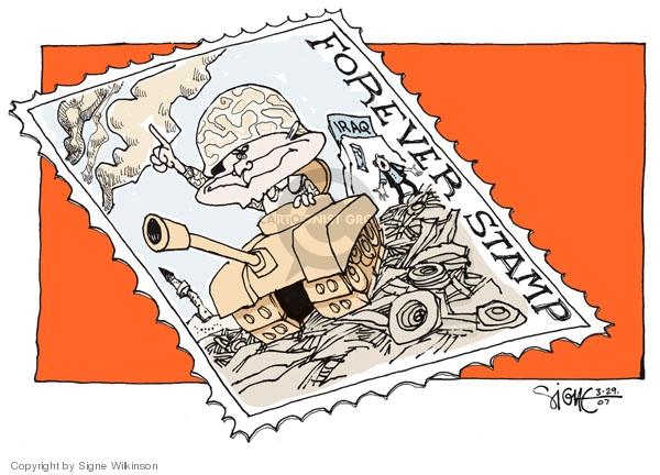 Cartoonist Signe Wilkinson  Signe Wilkinson's Editorial Cartoons 2007-03-29 rubble