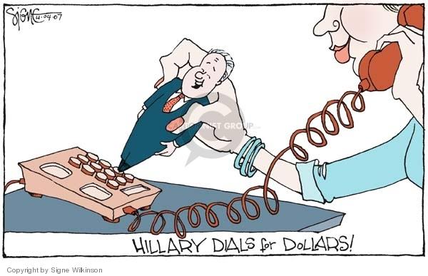 Signe Wilkinson  Signe Wilkinson's Editorial Cartoons 2007-04-04 Bill Clinton