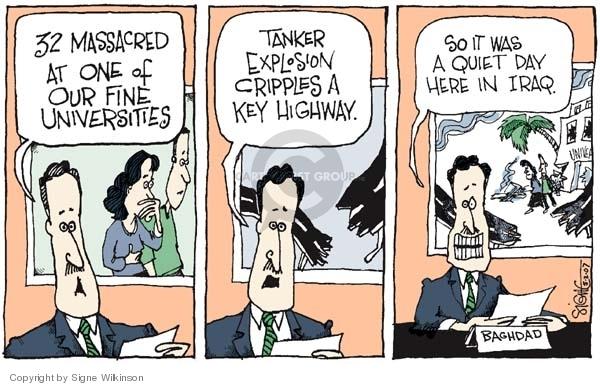 Cartoonist Signe Wilkinson  Signe Wilkinson's Editorial Cartoons 2007-05-02 highway