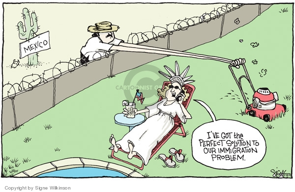 Cartoonist Signe Wilkinson  Signe Wilkinson's Editorial Cartoons 2007-05-30 labor