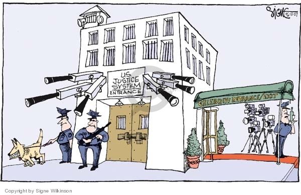 Signe Wilkinson  Signe Wilkinson's Editorial Cartoons 2007-06-11 judicial inequality