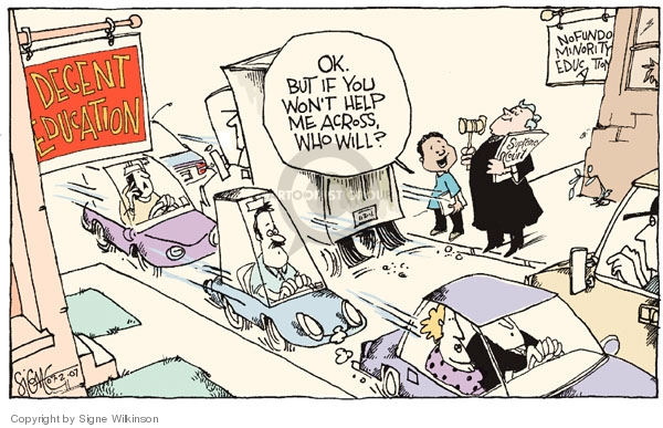 Cartoonist Signe Wilkinson  Signe Wilkinson's Editorial Cartoons 2007-07-02 segregation