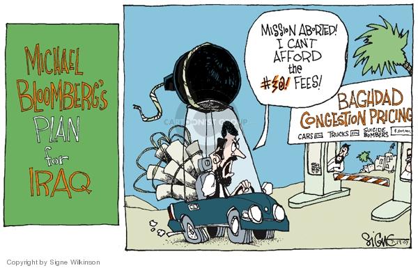 Signe Wilkinson  Signe Wilkinson's Editorial Cartoons 2007-07-19 car price