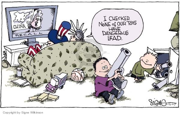 Cartoonist Signe Wilkinson  Signe Wilkinson's Editorial Cartoons 2007-08-16 gun rights