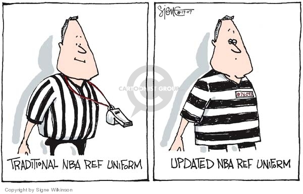 Cartoonist Signe Wilkinson  Signe Wilkinson's Editorial Cartoons 2007-08-17 basketball game