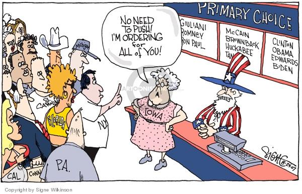 Signe Wilkinson  Signe Wilkinson's Editorial Cartoons 2007-08-24 Joe Biden
