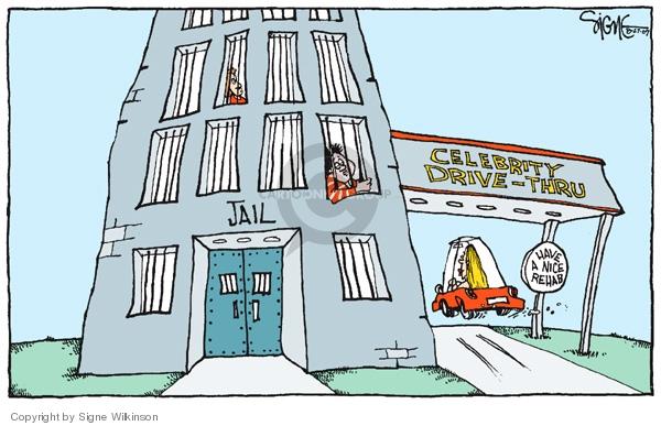 Cartoonist Signe Wilkinson  Signe Wilkinson's Editorial Cartoons 2007-08-27 drive-thru