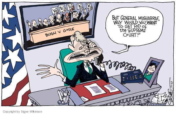 Signe Wilkinson  Signe Wilkinson's Editorial Cartoons 2007-11-12 2000 election Supreme Court