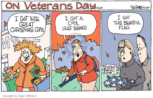 Signe Wilkinson  Signe Wilkinson's Editorial Cartoons 2007-11-13 Veterans Day