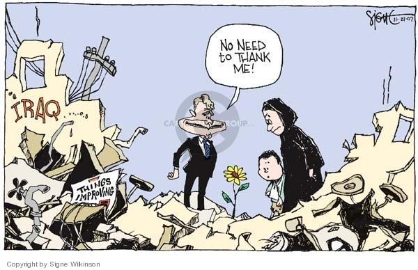 Cartoonist Signe Wilkinson  Signe Wilkinson's Editorial Cartoons 2007-11-21 rubble