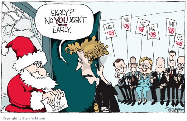 Signe Wilkinson  Signe Wilkinson's Editorial Cartoons 2007-11-23 Rudy Giuliani