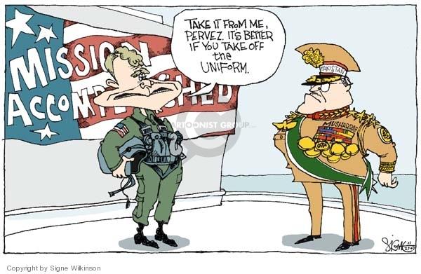 Cartoonist Signe Wilkinson  Signe Wilkinson's Editorial Cartoons 2007-11-27 military leadership
