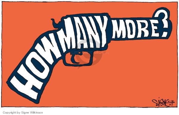 Cartoonist Signe Wilkinson  Signe Wilkinson's Editorial Cartoons 2007-04-18 gun rights