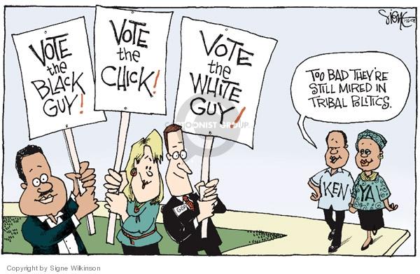 Signe Wilkinson  Signe Wilkinson's Editorial Cartoons 2008-01-16 racism