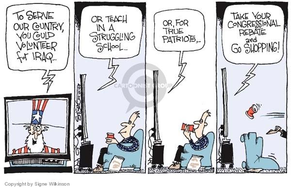 Cartoonist Signe Wilkinson  Signe Wilkinson's Editorial Cartoons 2008-02-01 true