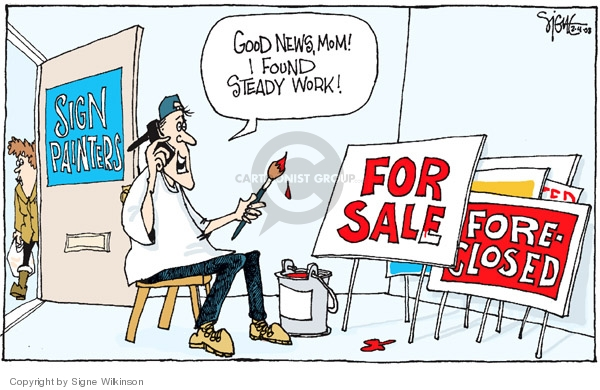 Cartoonist Signe Wilkinson  Signe Wilkinson's Editorial Cartoons 2008-03-04 economy
