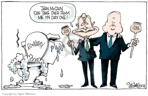 Signe Wilkinson  Signe Wilkinson's Editorial Cartoons 2008-03-10 election day
