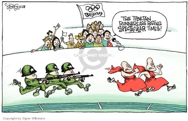 Signe Wilkinson  Signe Wilkinson's Editorial Cartoons 2008-03-24 2008 Olympics