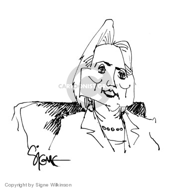 Cartoonist Signe Wilkinson  Signe Wilkinson's Editorial Cartoons 2008-03-26 2008 primary