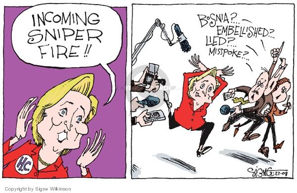 Signe Wilkinson  Signe Wilkinson's Editorial Cartoons 2008-03-27 lie