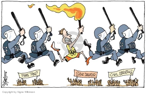 Signe Wilkinson  Signe Wilkinson's Editorial Cartoons 2008-04-10 torch