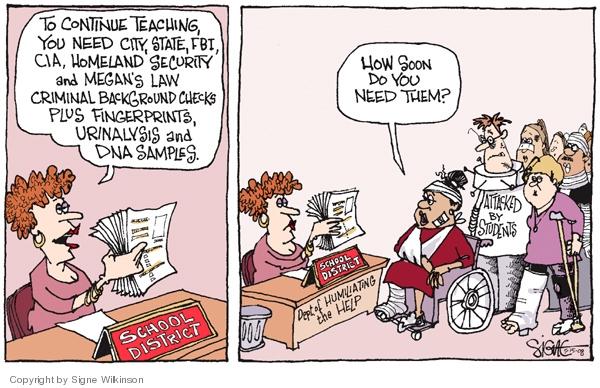 Cartoonist Signe Wilkinson  Signe Wilkinson's Editorial Cartoons 2008-05-15 CIA