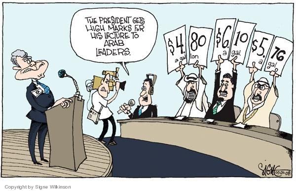 Signe Wilkinson  Signe Wilkinson's Editorial Cartoons 2008-05-20 political leader