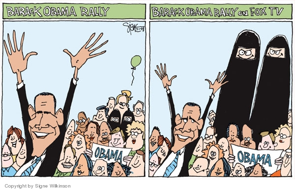 Cartoonist Signe Wilkinson  Signe Wilkinson's Editorial Cartoons 2008-07-01 rally