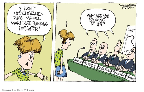 Signe Wilkinson  Signe Wilkinson's Editorial Cartoons 2008-07-17 Federal Reserve Bank